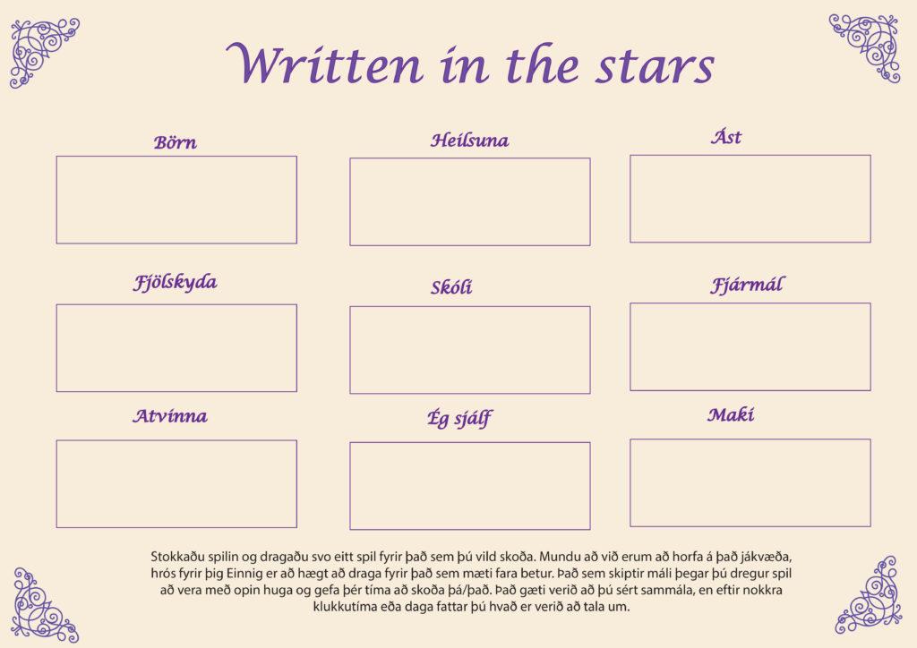 written in the stars lögn. Alheimsorka